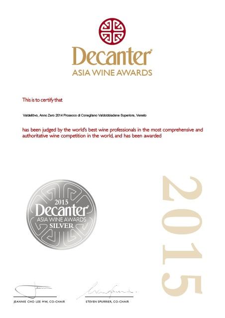 Certificato silver medal