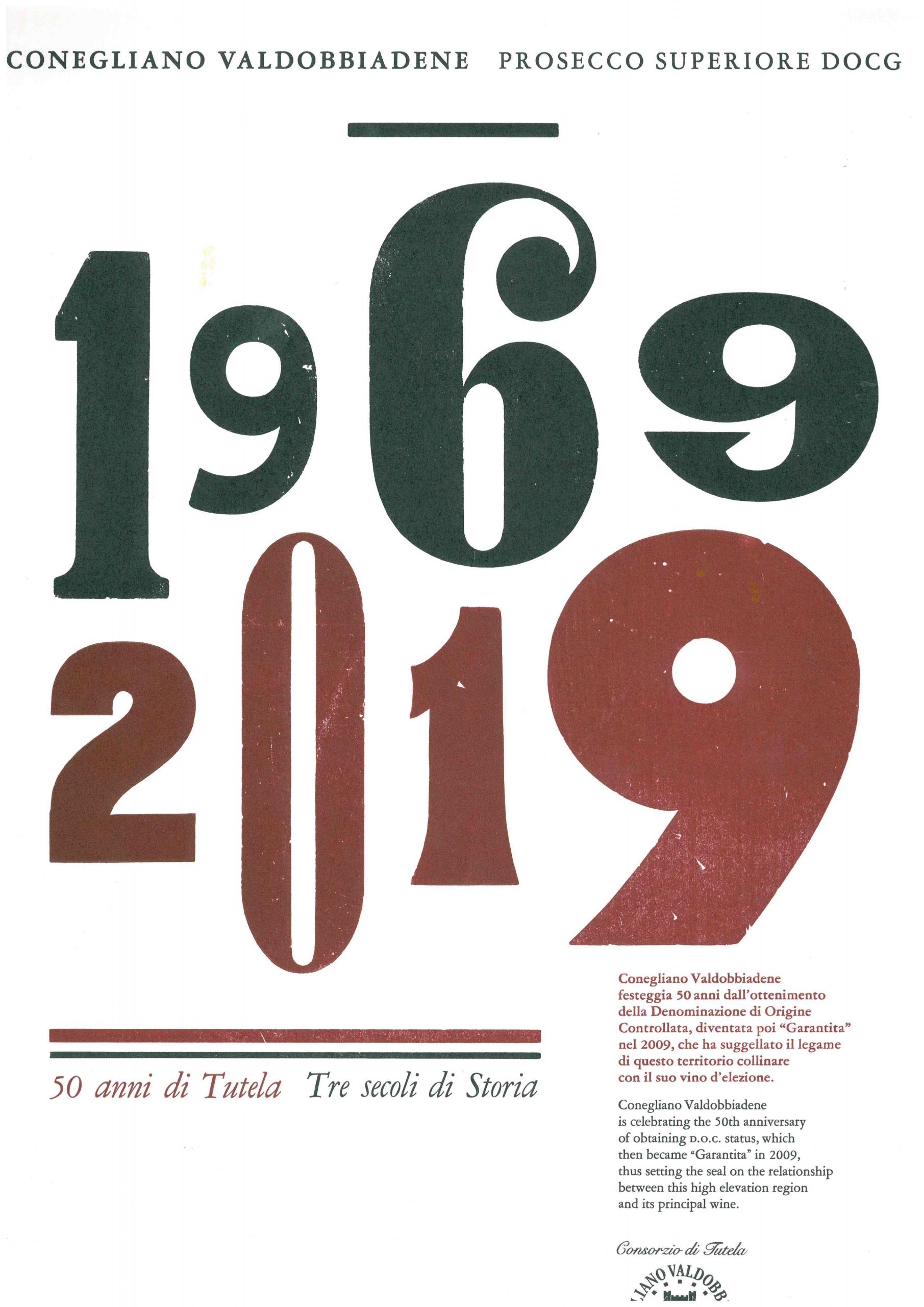 50 anni di tutela 1969-2019, Consorzio Conegliano Valdobbiadene Prosecco Superiore