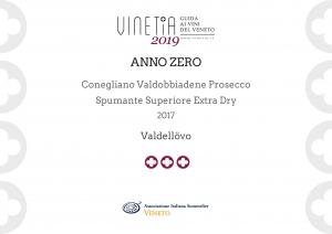 Diploma AIS Veneto 2019 AnnoZero prosecco docg
