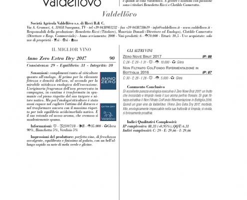 Luca Maroni annuario 2018 valutazione annozero prosecco valdellovo