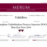 Merum italien-magazin für wein, ZeroNove prosecco docg Valdellovo