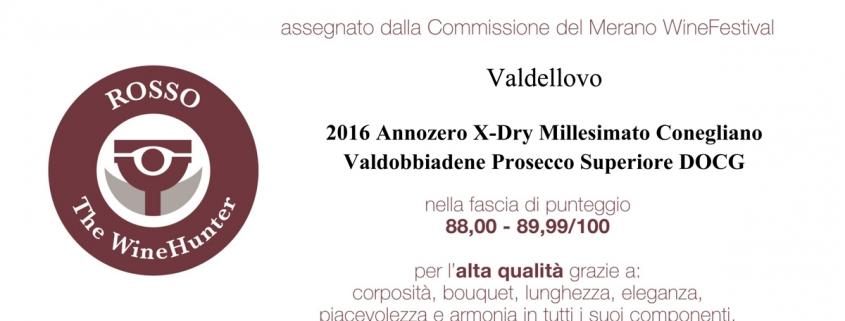WineHunter award 2017 valdellovo prosecco